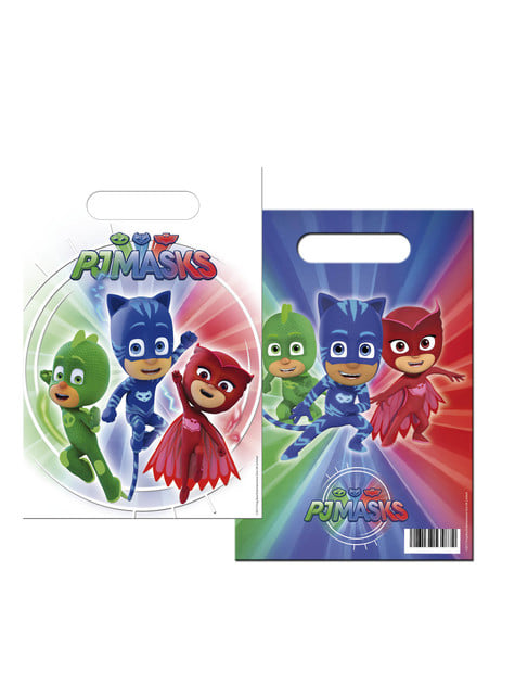 Set de 6 bolsas rectangulares PJ Masks