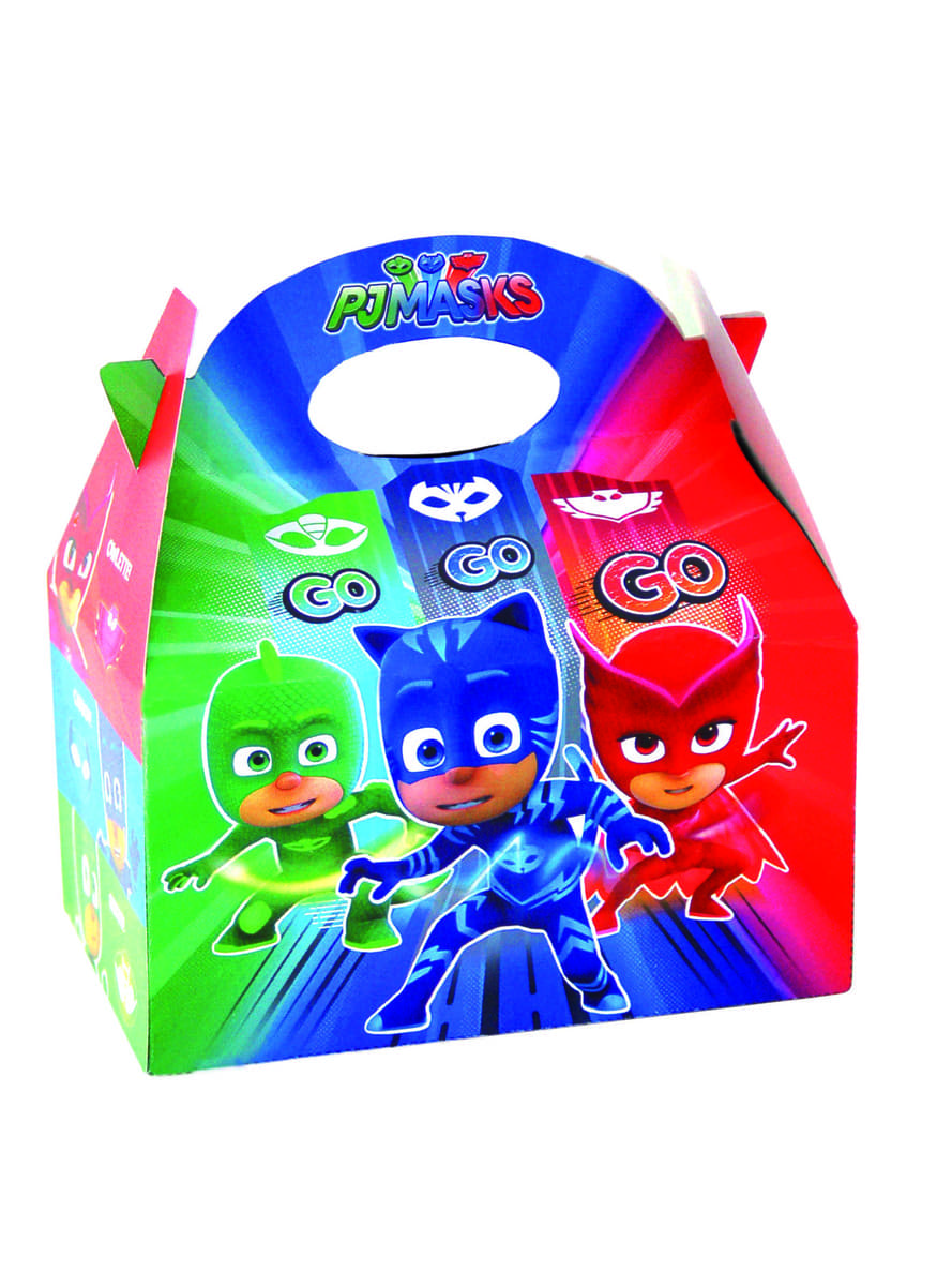 Set Of 4 PJ Masks Party Boxes