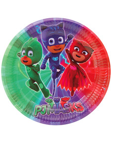 Set de 8 platos grandes PJ Masks