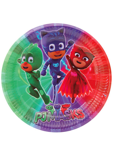 Set de 8 platos grandes PJ Masks