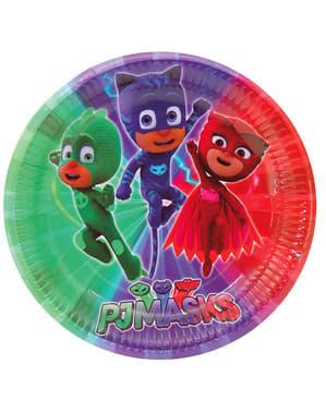 8 büyük PJ Maskesi plaka seti