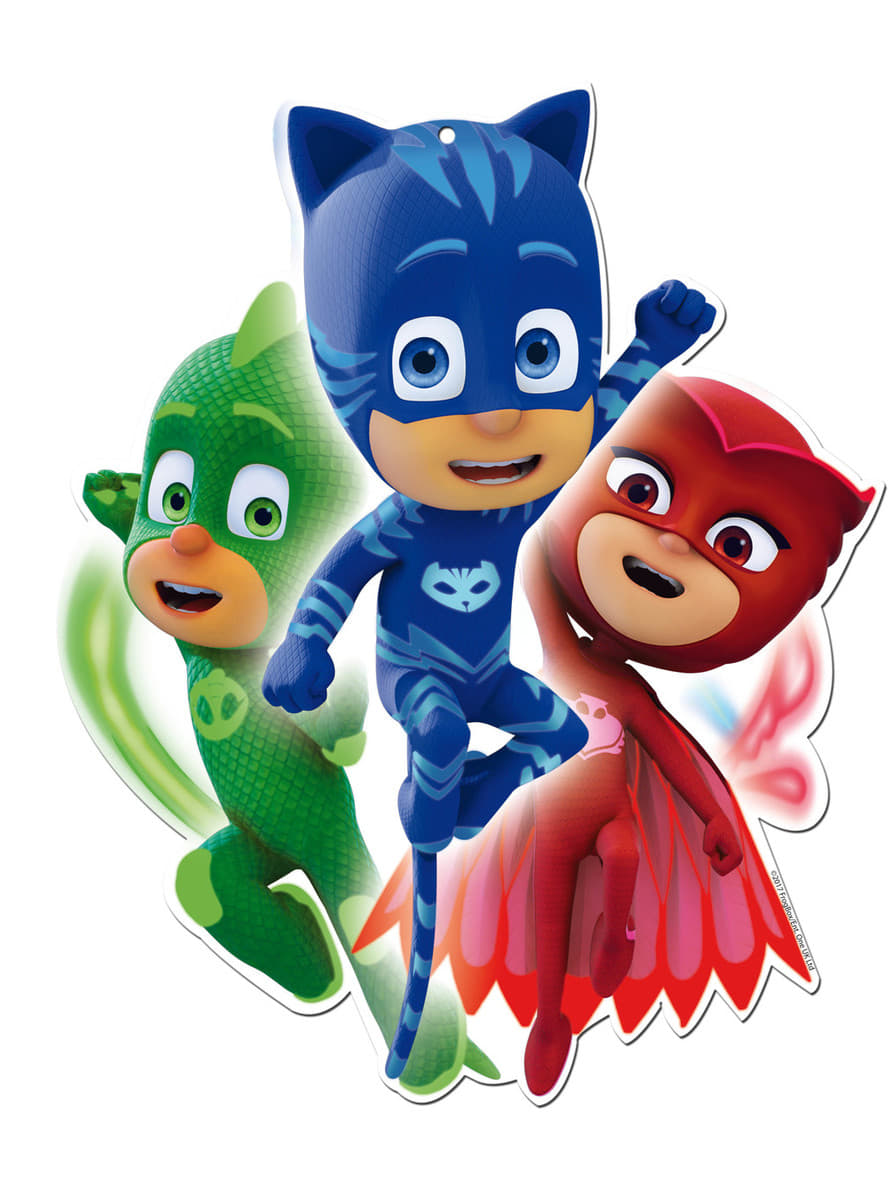 Set Of 2 Decorative Pj Masks Figures Fast Delivery
