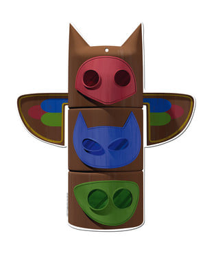 2kpl Setti PJ Masks-koristehahmoja
