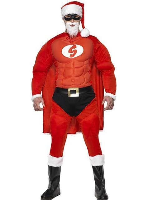 Gespierd Super Kerstman kostuum