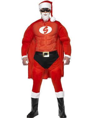 Costume da Super Babbo Natale muscoloso