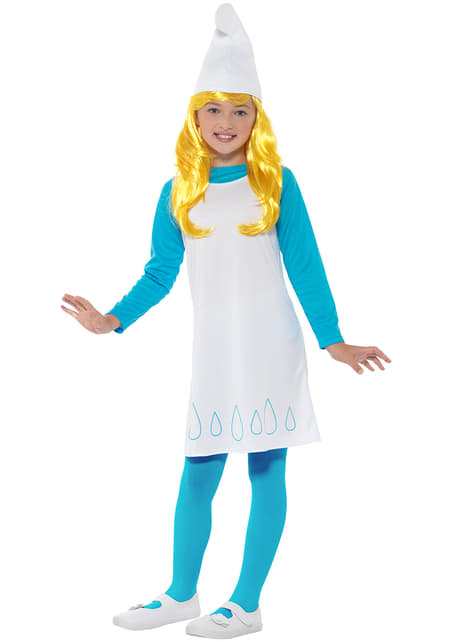 Disfraz de Pitufina para niña - original
