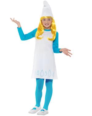 Smurfeline kostyme for jente