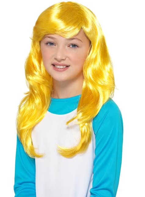 Peruca de Smurfina para menina