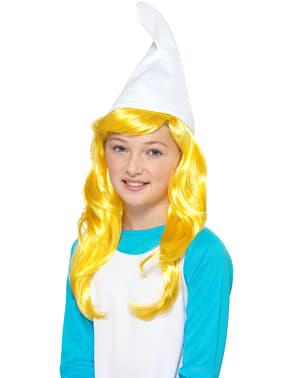 Smurfin pruik voor kinderen