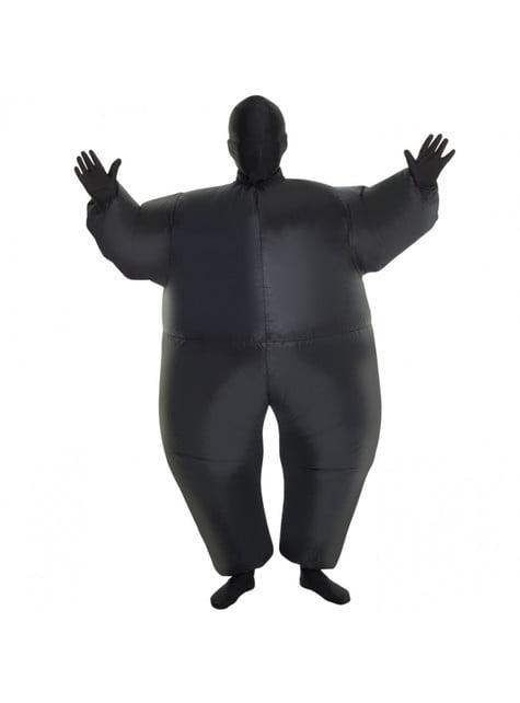 Disfraz hinchable megamorph negro infantil