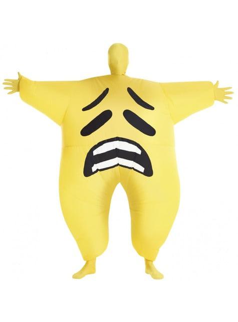 Disfraz de emoji triste mega morph hinchable para adulto