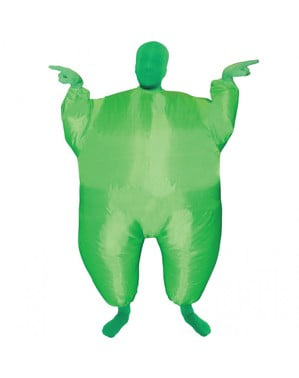 Costum gonflabil megamorph verde pentru copii
