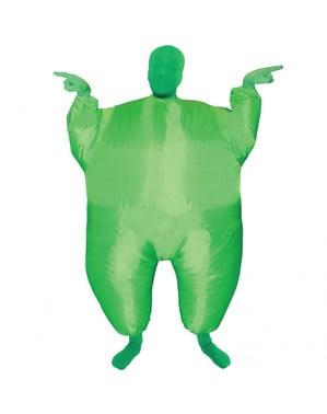 Strój nadmuchiwany z megafonem zielony dziecięcy