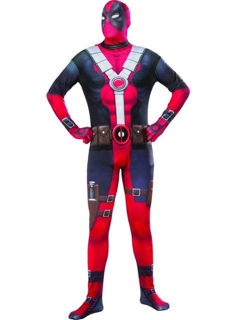 Fato de Deadpool segunda pele para homem