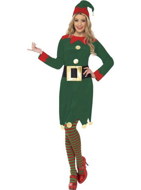 Зелен костюм на елф за възрастни