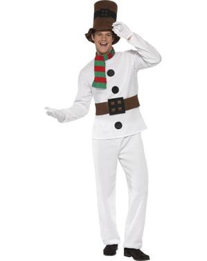 Елегантна костюм за възрастни със снежен човек