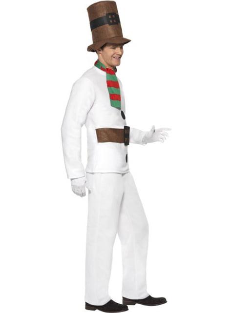 Disfraz de Muñeco de Nieve elegante - hombre