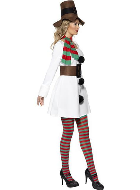 Schneemann Kostüm für Damen Classic