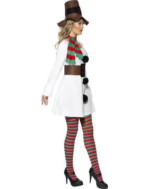 Дамски костюм на снежен човек