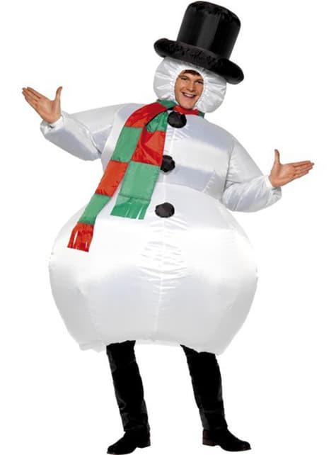 Puhallettava Lumiukkoasu aikuisille