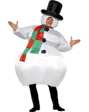 Oppblåsbar Snømann Kostyme Voksen