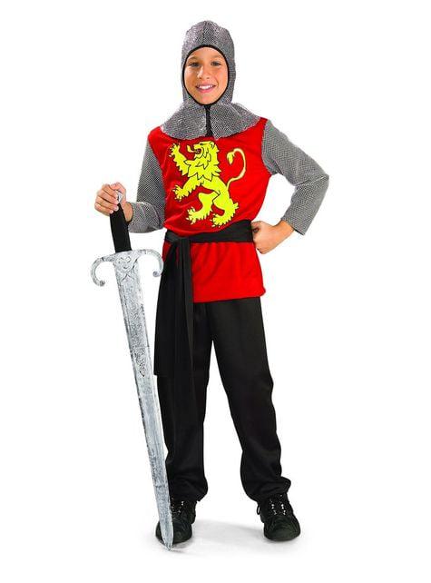 Costum de cavaler medieval roșu pentru băiat