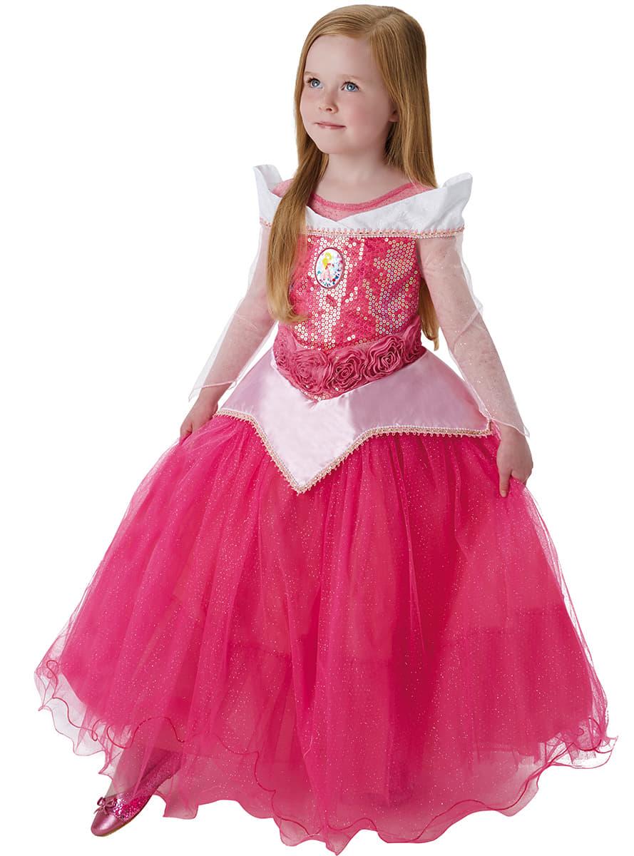 belle costume bambina  Costume da Aurora La Belle Addormentata premium per bambina ...