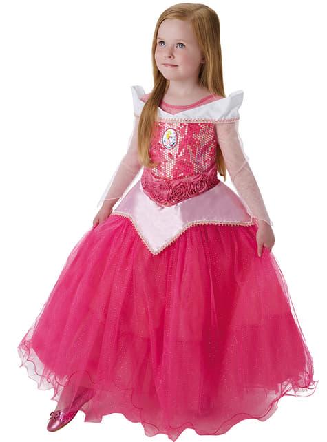 Costum Aurora Frumoasa Adormită premium pentru fată