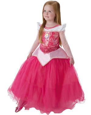 Dívčí luxusní kostým Aurory ze Šípkové Růženky