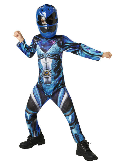 Disfraz de Power Ranger azul Movie para niño
