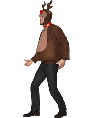 Rudolf som er Rød på Nesen Reinsdyr Kostyme Voksen