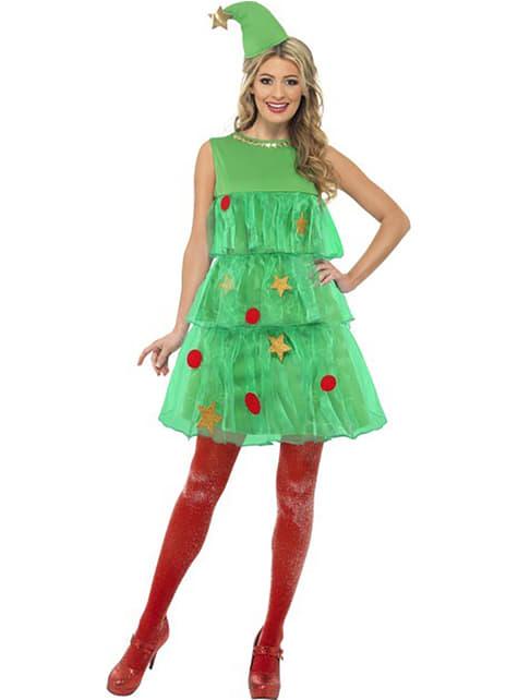 女性のためのクリスマスツリー衣装
