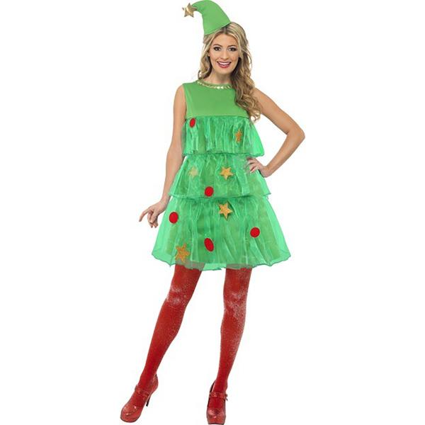 Disfraz de rbol de navidad para mujer navidad - Disfraz de navidad ...