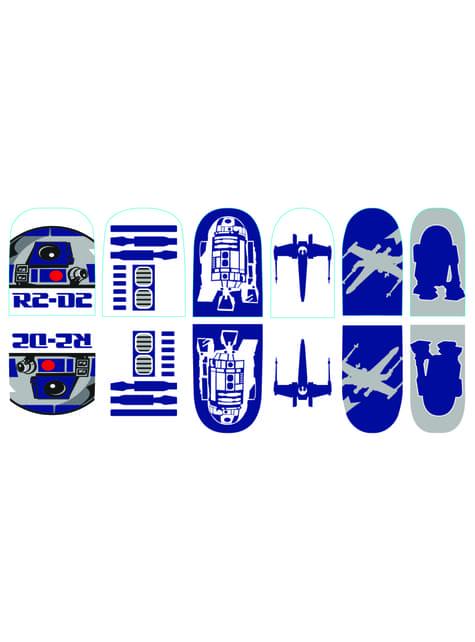 Naklejki na paznokcie R2D2