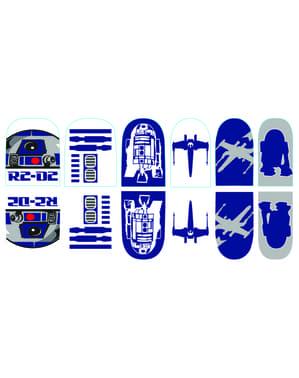 Klistermärken till naglar R2D3