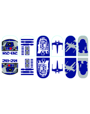 R2D2 nail stickers