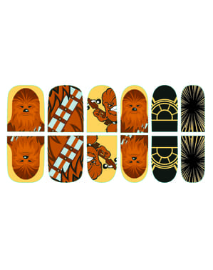 Naklejki na paznokcie Chewbacca