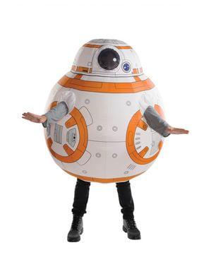 Maskeraddräkt uppblåsbar BB8 Star Wars för vuxen