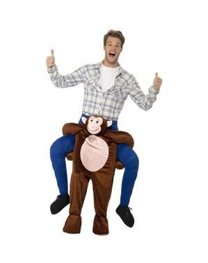 Fato de Macaco leva-me à selva para adulto