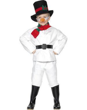 Snemand kostume til små børn