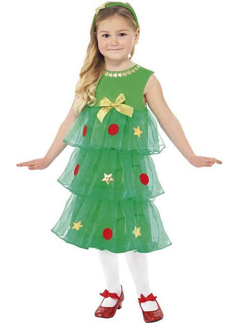 Déguisement de sapin de Noël pour fille