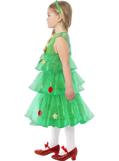 Christmas Tree Lady Kids Costume