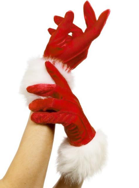Weihnachtsfrau Handschuhe