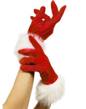 Handschoenen kerstvrouw