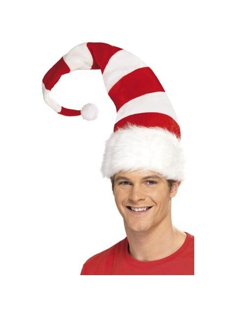 Gorro Papá Noel largo a rayas - para tu disfraz