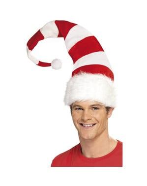 Gorro Pai Natal comprido às riscas