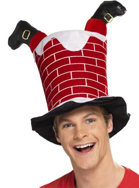Czapka Święty Mikołaj w kominie