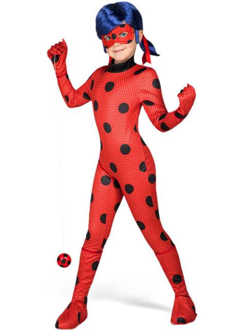 Déguisement Ladybug avec perruque pour fille