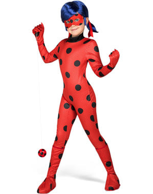 Ladybug kostuum met pruik voor meisjes