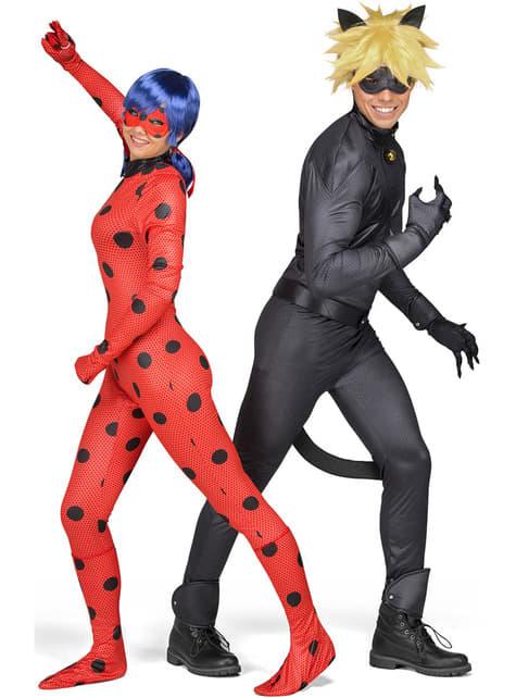 Disfraz de Ladybug con peluca para mujer
